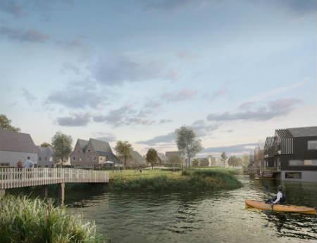Eilanden van Hain wint tender: energie neutrale en waterrijke woonwijk