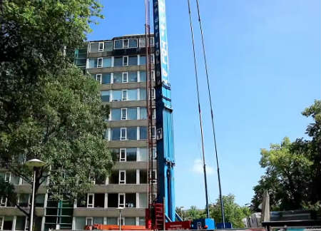 Eerste proefwoning energie-opwekkende hoogbouw